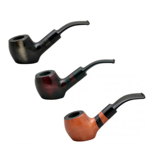 #40 bent sitter pearwood pipe from Golden Pipe (Poland)