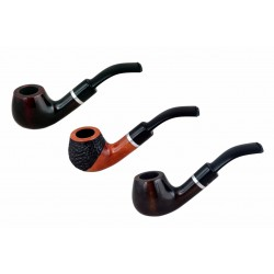 #42 bent apple pearwood tobacco smoking pipe from Golden Pipe (Poland)