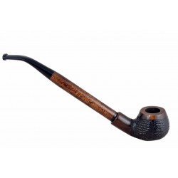 #69 bent long churchwarden pearwood tobacco smoking pipe from Golden Pipe (Poland)