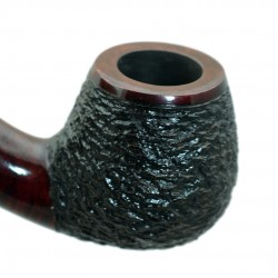 #72 Briar Bent Rustic Apple Tobacco Smoking Pipe by Golden Pipe (Poland)