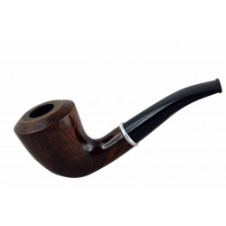#75 Briar dublin smooth dark brown tobacco smoking pipe from Golden Pipe (Poland)