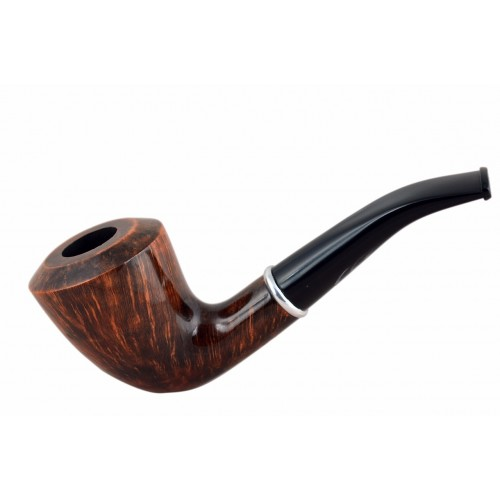 #75 Briar dublin smooth bent brown tobacco smoking pipe from Golden Pipe (Poland)