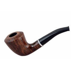 #75 Briar dublin smooth brown tobacco smoking pipe from Golden Pipe (Poland)