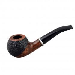#76 Briar bent apple brown - black rustic pipe