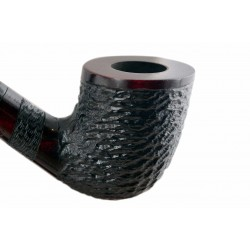 #81 Pear wood extra long red rustic churchwarden tobacco smoking pipe with stand from Golden Pipe (Poland)