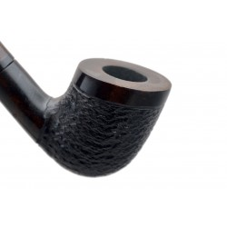 #81 Pear wood extra long brown and black rustic churchwarden tobacco smoking pipe with stand from Golden Pipe (Poland)
