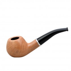 #76 Briar bent apple nude smooth tobacco smoking pipe from Golden Pipe (Poland..