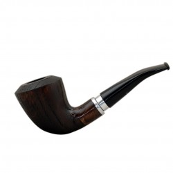 #21 Dark brown oak tobacco smoking pipe from Golden Pipe (Poland)