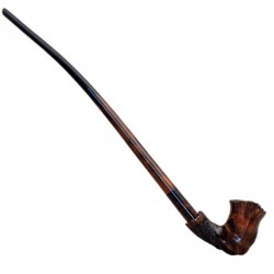 EXTRA BRUYERE exclusive extra long brown carved briar churchwarden tobacco smoking pipe from Golden Pipe (Poland)