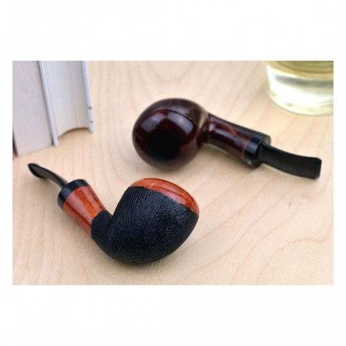 No. 127 briar orange furrowed pipe