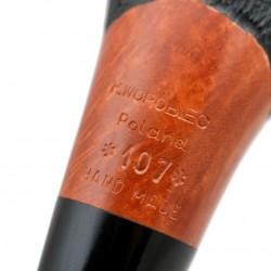 No. 107 briar orange furrowed pipe