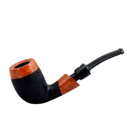 No. 143 briar bent billiard orange furrowed pipe