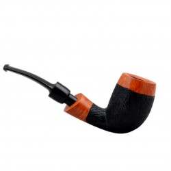 No. 143 briar bent billiard orange furrowed pipe