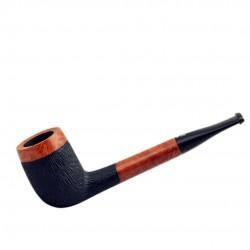 No. 91 briar straight billiard orange furrowed pipe