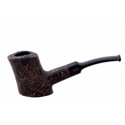 TOBY (Sabbiata) briar straight sandblasted cherrywood standing pipe by Brebbia (Italy)