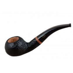 SERIE 1960 (Sabbiata nera 601) briar bent sandblasted author tobacco smoking pipe by Brebbia (Italy)