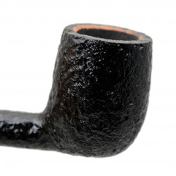 SERIE 1960 (Sabbiata nera 7001) briar sandblasted straight billiard tobacco smoking pipe by Brebbia (Italy)