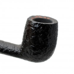 SERIE 1960 (Sabbiata nera 8006) briar sandblasted curved billiard tobacco smoking pipe by Brebbia (Italy)