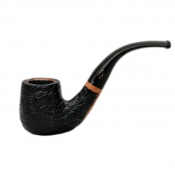 SERIE 1960 (Sabbiata nera 6000) briar sandblasted billiard tobacco smoking pipe by Brebbia (Italy)