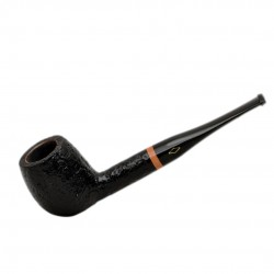 SERIE 1960 (Sabbiata nera 2002) briar sandblasted straight apple tobacco smoking pipe by Brebbia (Italy)