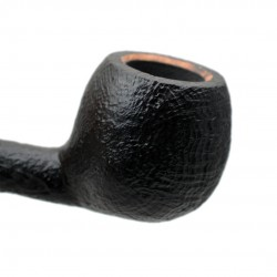 SERIE 1960 (Sabbiata nera 2002) briar sandblasted straight apple tobacco smoking pipe by Brebbia (Italy) 02