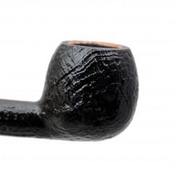 SERIE 1960 (Sabbiata nera 2002) briar sandblasted straight apple tobacco smoking pipe by Brebbia (Italy) 02