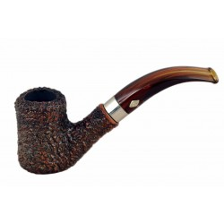 NAIF (rustica marrone 7069) briar bent hourglass tobacco smoking pipe from Brebbia (Italy) 02