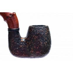 BUZZI (Sabbiata) sandblasted briar pipe by Brebbia (Italy)
