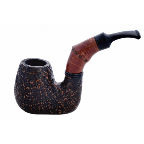 BUZZI (Sabbiata) sandblasted briar pipe by Brebbia (Italy) 02