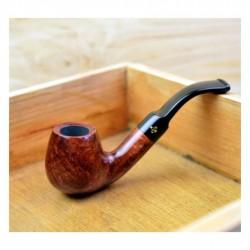 CELLINI (mogano) bent brandy pipe