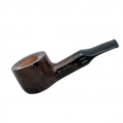 FAT BOB (Noce 2111) briar chubby straight smooth tobacco pipe by Brebbia (Ital..