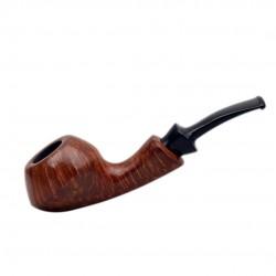 GIO' (Noce) briar smooth rhodesian tobacco pipe by Brebbia (Italy)