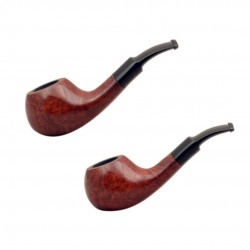 GO GO (naturale) mini briar tobacco pipe by Brebbia (Italy)