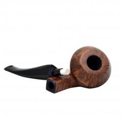 JUMBO (Ambra 2724) briar massive bulldog tobacco pipe by Brebbia (Italy)