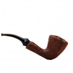 COLLECTION sandblasted tobacco pipe by Brebbia (Italy)