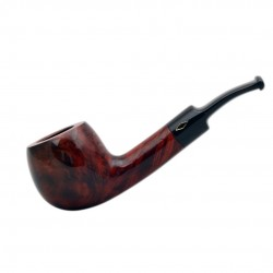 ROMBO (Marezzate) briar bent pot tobacco smoking pipe by Brebbia (Italy)
