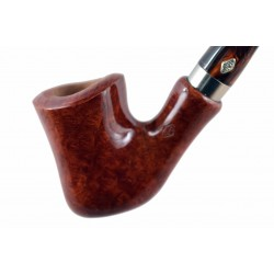 NAIF (ambra 7069) briar bent hourglass tobacco smoking pipe from Brebbia (Italy) 02