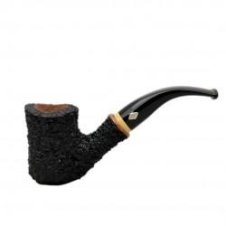 NAIF (rustica nera 7069) briar bent tobacco smoking pipe from Brebbia (Italy)