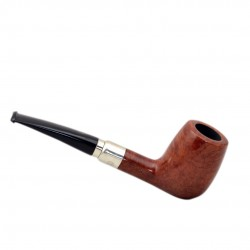 FIRST LONG SELECTED 100 briar smooth tobacco smoking pipe from Brebbia (Italy)