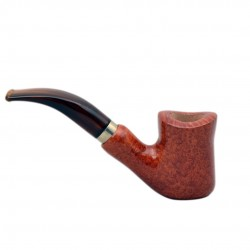 NAIF (ambra 7069) briar bent hourglass tobacco smoking pipe from Brebbia (Italy)