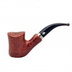 NAIF (ambra 7069) briar bent hourglass tobacco smoking pipe from Brebbia (Italy) 03