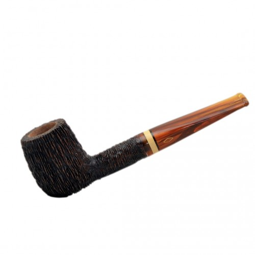 NINJA (rocciata 1001) straight billiard tobacco smoking pipe from Brebbia (Italy)