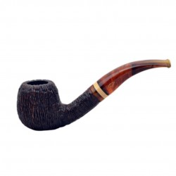NINJA (rocciata 834) bent apple tobacco smoking pipe from Brebbia (Italy)
