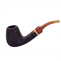 NINJA (rocciata 839) bent brandy tobacco smoking pipe from Brebbia (Italy)
