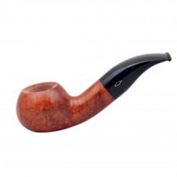 SERIE X (602 ambrata) briar bent smooth tomato tobacco smoking pipe from Brebbia (Italy)