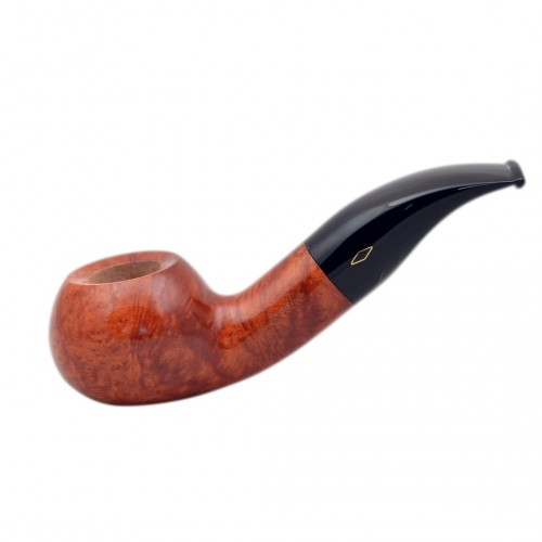 SERIE X (602 ambrata) briar bent smooth tomato tobacco smoking pipe from Brebbia (Italy)