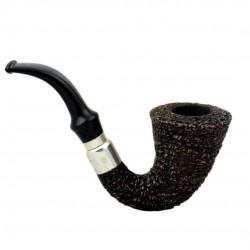 FIRST CALABASH (Rocciata scura 1997) briar smoking pipe from Brebbia (Italy)