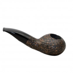 FAT BOB (Sabbiata 2112) briar massive sandblasted author tobacco pipe by Brebbia (Italy)