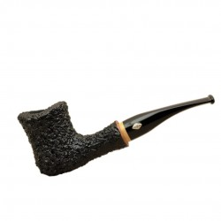 NAIF (rustica nera 7013) briar straight tobacco smoking pipe from Brebbia (Italy)
