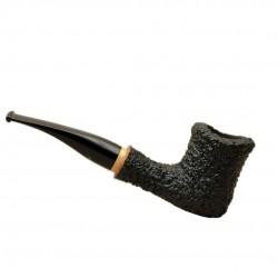 NAIF (rustica nera 7013) briar straight tobacco smoking pipe from Brebbia (Italy)